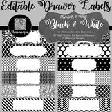 Editable Sterilite Drawer Labels - Essentials & White: Bla