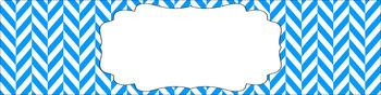 Editable Sterilite Drawer Labels - Basics: Herringbone and White