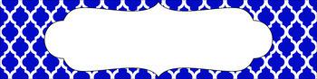 Editable Sterilite Drawer Labels - Basics: Moroccan and White
