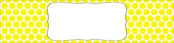 Editable Sterilite Drawer Labels - Basics: Polka Dots and White