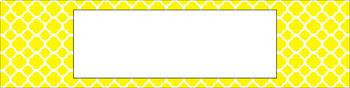 Editable Sterilite Drawer Labels - Essentials & White: Quatrefoil