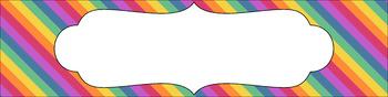 Editable Sterilite Drawer Labels - Rainbow: Jaded Rainbow