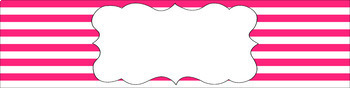 Editable Sterilite Drawer Labels - Stripes | Editable PowerPoint