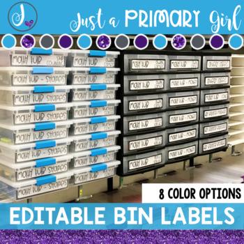 Editable Sterilite Drawer or Bin Labels