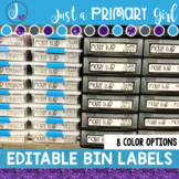 Editable Sterilite Drawer or Bin Labels