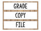 Editable Sterilite Labels -  Farmhouse Classroom