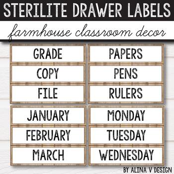 Sterilite Drawer Labels EDITABLE, 3 Drawer Sterilite Labels Editable