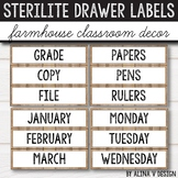 3 Drawer Sterilite Labels Editable Farmhouse Classroom Decor