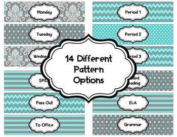 Editable Sterlite Drawer Labels: Charcoal Blues