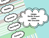 Editable Sterlite Drawer Labels: Mint Chocolate