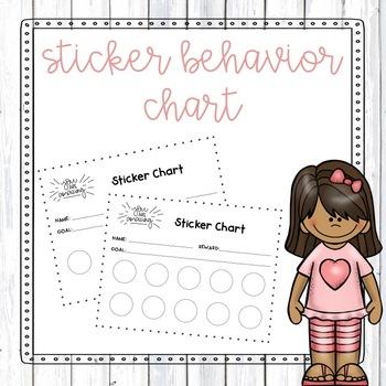 Sticker Behavior Chart