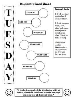 Editable Sticker Charts                      (Behavior System)
