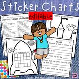 Editable Sticker Charts:  Behavior Consequences & Rewards