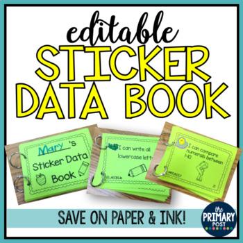 Editable Sticker Data Book for Kindergarten- I Can Statements