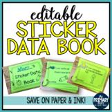 Kindergarten Sticker Data Book