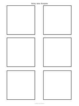 Editable Sticky Note Template