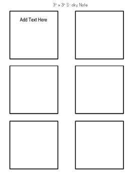 Sticky Note Templates- Editable!