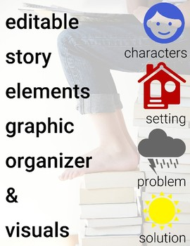 Editable Story Elements Graphic Organizers and Visuals