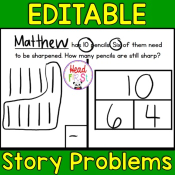 Editable Story Problems Addition & Subtraction Unit 2 -    Add students' names!