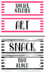 Editable Striped Labels