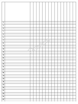 Teacher Binder - Editable Striped Yearly Grade-book and Plan Book