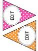 Editable Stripped and Polka Dot Banner