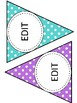 Editable Stripped and Polka Dot Banner