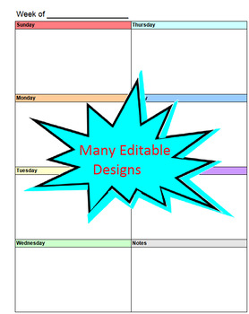 Editable Student Agenda FREE Updates - Student Planner, Organizer & MORE!
