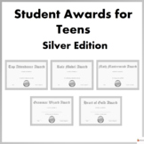 Editable Student Awards For Teens Silver Edition