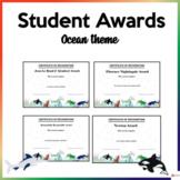 Editable Student Awards Ocean Theme
