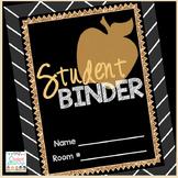 Student Binder Editable
