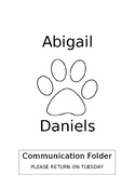Editable Student Binder/Communication Folder Cover Dog Theme