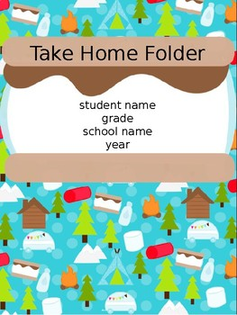 Editable Student Binder Covers- Camping/ Woodland Theme