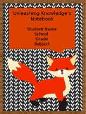 Editable Student Binder Covers- Woodland Animals/ Camping/