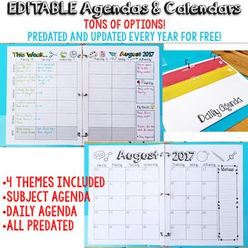 Editable Student Binder FREE Updates for LIFE - Student Planner & Agenda