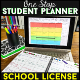 Editable Student Binder - Student Planner & Agenda | SCHOOL LICENSE *50 STUDENTS