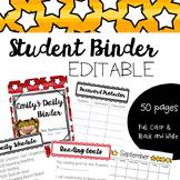 Editable Student Binder - Teaching Organization