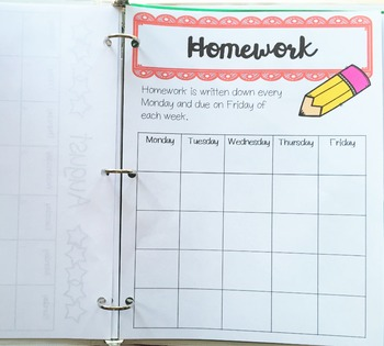 Editable Student Binder - Teaching Organization