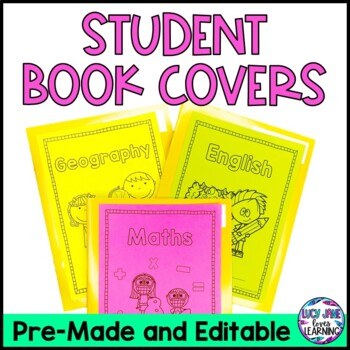 Editable Student Book Covers
