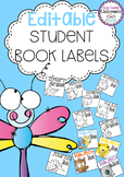 Editable Student Book Labels