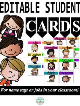 Editable Student Cards