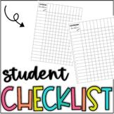 Editable Student Checklist Gradebook