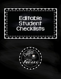 Editable Student Checklists