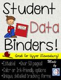 Editable Student Data Binders for Intermediate Grades