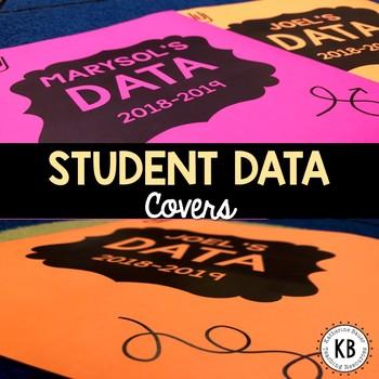 Editable Student Data Covers *Freebie*