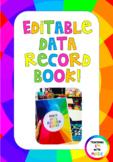 Editable Student Data Record Book