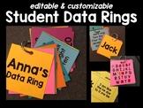 Editable Student Data Rings