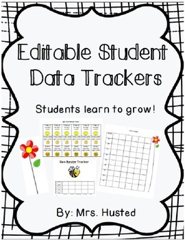 Editable Student Data Trackers