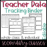 Editable Secondary Data Tracking: Class & Individual Stude