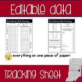 Editable Student Data Tracking Sheet